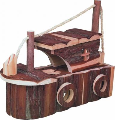 Bateau en écorce de bois pour petits rongeurs