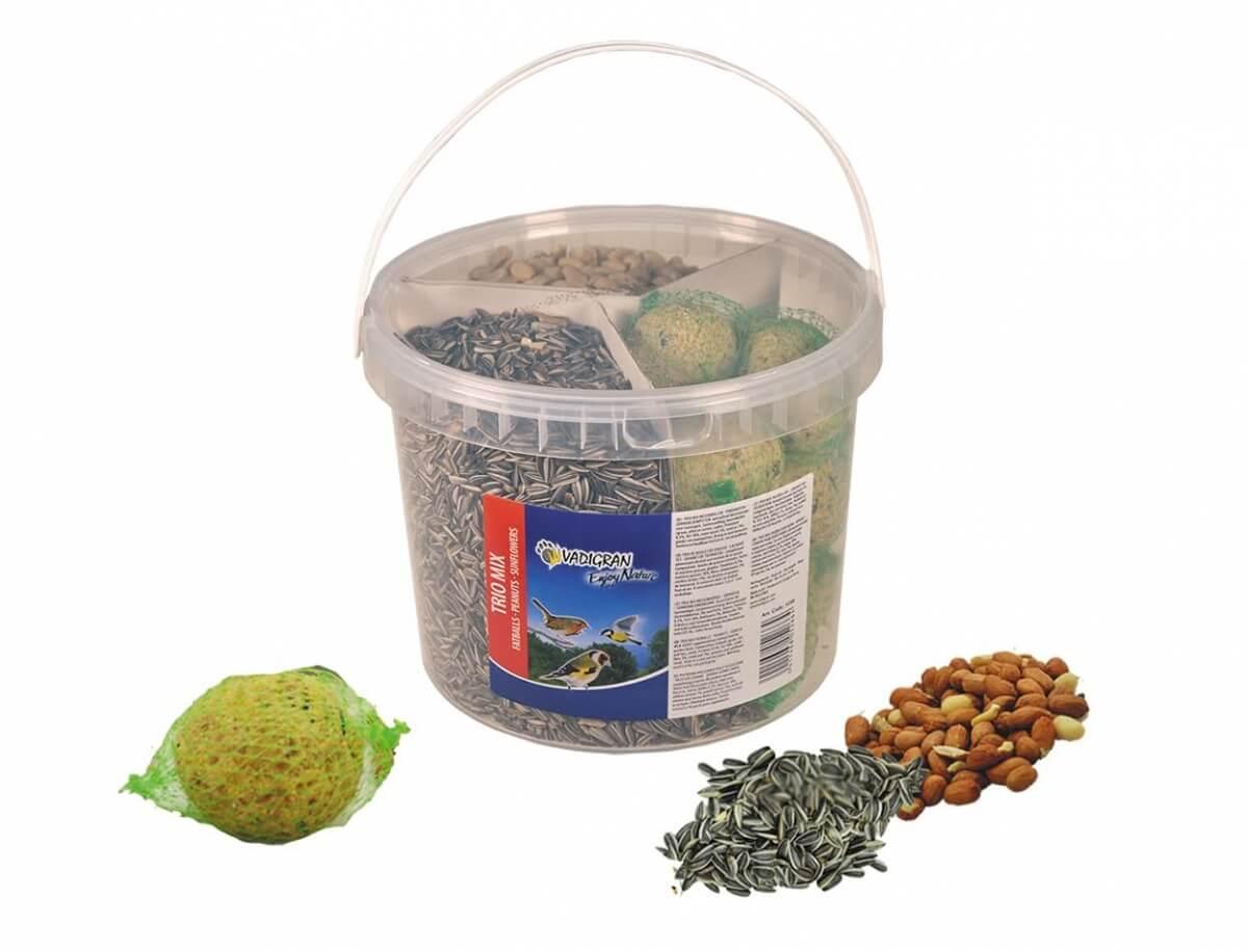 Seau oiseaux de la nature mixte boule de graisse/ arachides/ tournesol