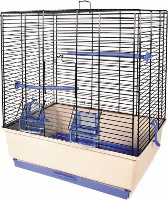 Cage petits oiseaux KATIA beige et bleue
