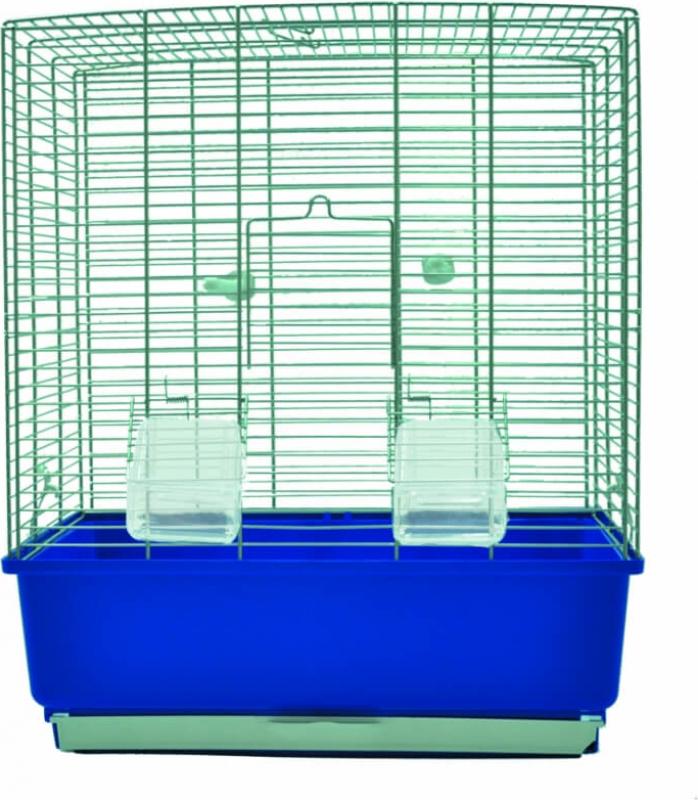 Cage petits oiseaux KATIA bleu -H50cm