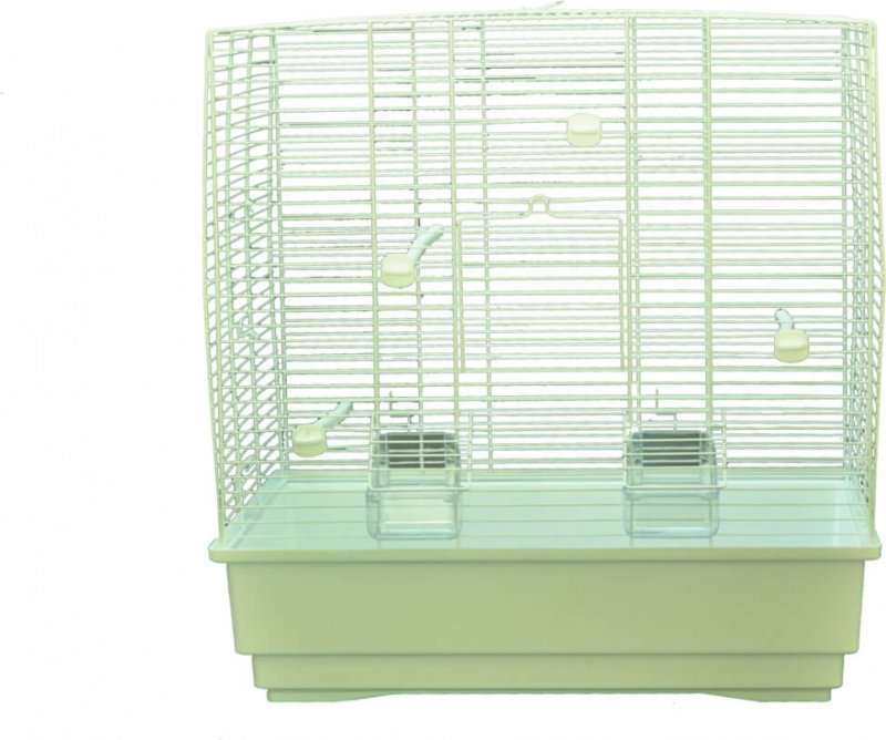 Cage petits oiseaux MOIRA blanc - H54cm