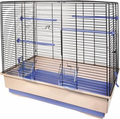 Cage petits oiseaux MOIRA beige et bleue