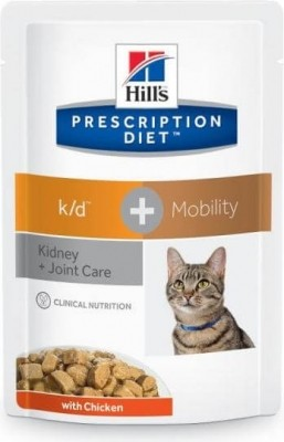 Sachet fraîcheur HILL'S Prescription Diet K/D + Mobility Kidney Care pour chat adulte