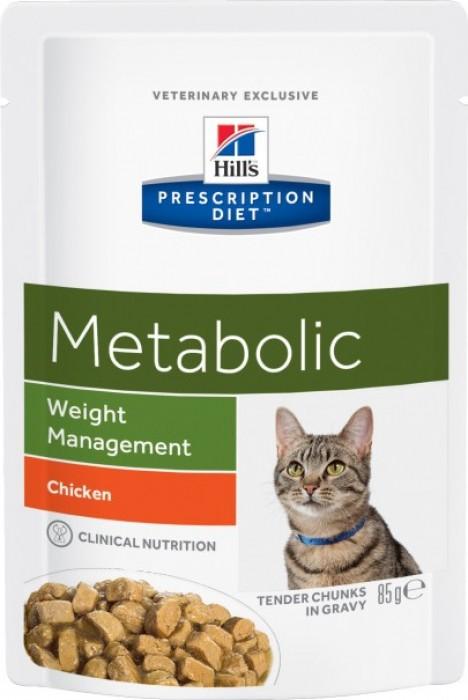 Pack de 12 Sachets fraîcheur HILL'S Prescription Diet Weight Management METABOLIC pour chat adulte
