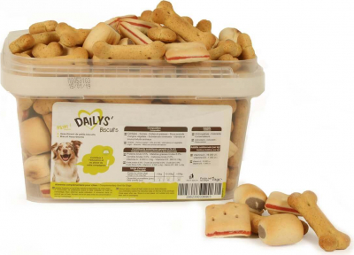 Biscuits assortis DAILYS pour chien 1kg