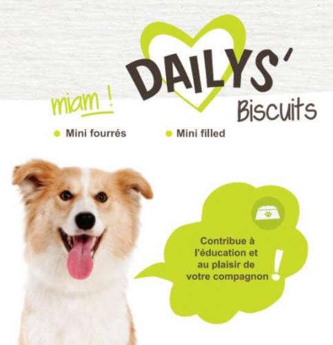 Biscuits minis fourrés DAILYS pour chien