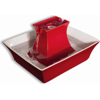 Fontaine Drinkwell Pagoda rouge ou grise pour chien et chat
