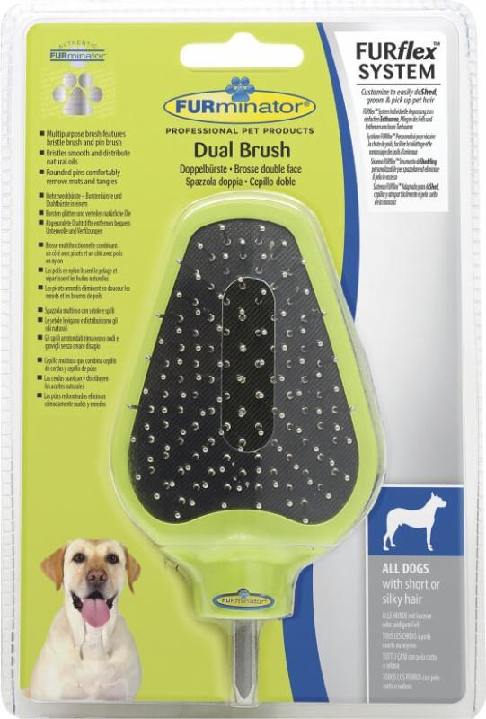 Tête de brosse double face pour FURminator FURflex tous chiens