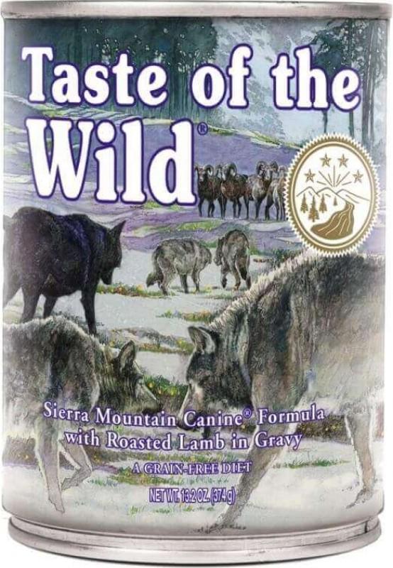 Pâtée TASTE OF THE WILD Sierra Mountain à l'Agneau Sans Céréales pour chien adulte