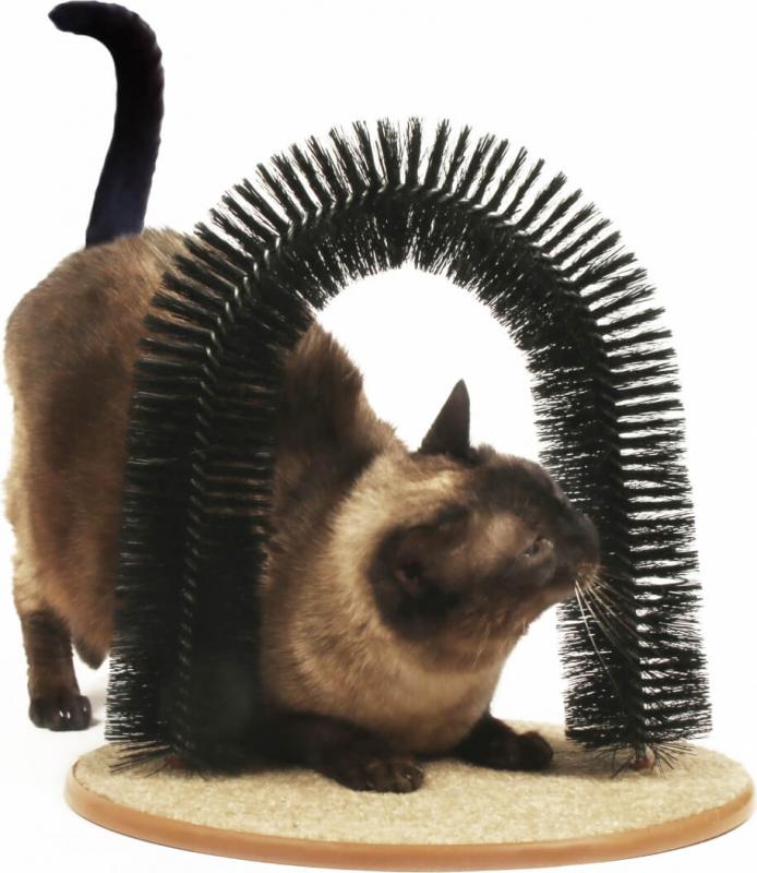 automatische massage und b rste zolia f r katzen mit katzenminze. Black Bedroom Furniture Sets. Home Design Ideas