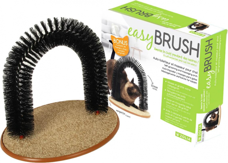 Self-groomer and cat massager Zolia with catnip