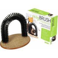 Auto-toiletteur et masseur pour chat Easy Brush avec herbe à chat