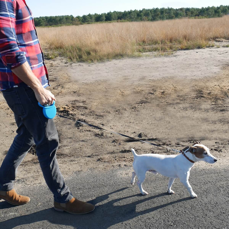 Laisse enrouleur rétractable PIXYDOG pour chien