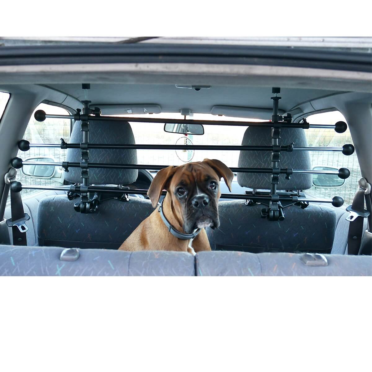 Grille pour voiture doggy stop pour chien accessoires voiture chien - Grille pour chien en voiture ...