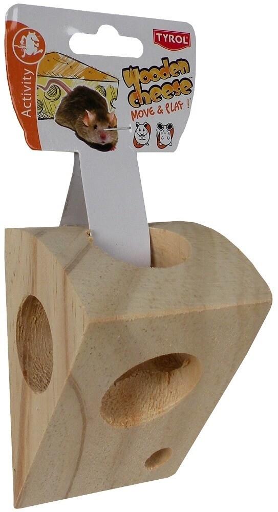 Morceau de fromage en bois pour souris_0