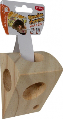 Trozo de queso de madera para ratones