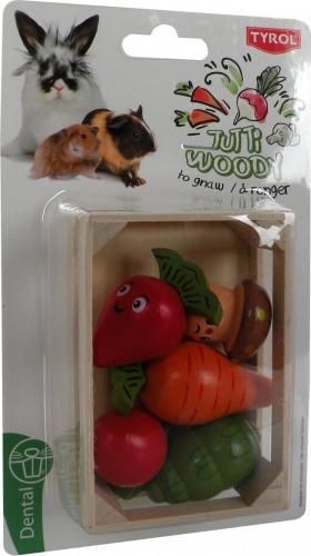 Caja de verduras de madera para roer TUTTI WOODY