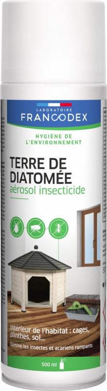 Francodex Aérosol insecticide habitat Terre de diatomée