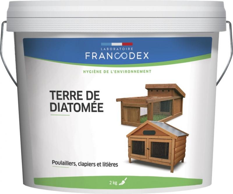 Francodex Poudre insecticide environnement Terre de diatomée pour basse cour