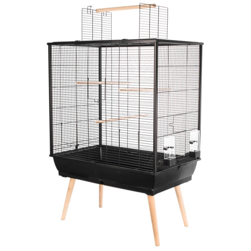 cage perruches neo jili noire cage pour perruche. Black Bedroom Furniture Sets. Home Design Ideas