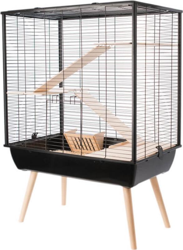Jaula NEO Cosy negra para conejos y grandes roedores