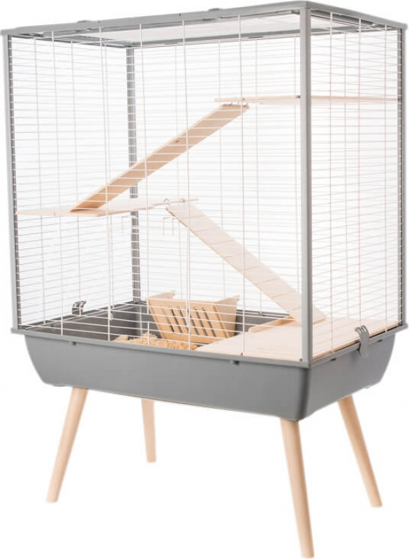 Cage NEO cosy grise pour lapin et grand rongeur