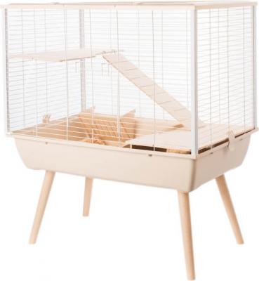 Cage NEO Muki beige pour lapin et grands rongeurs