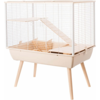 Jaula NEO Muki  beige  para conejos y grandes roedores