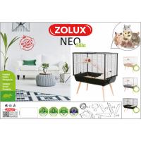 Cage petit rongeur à 2 étages - H87,5 cm - Zolux NEO Silta grise