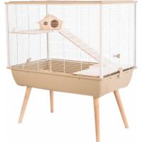 Jaula para roedor pequeño NEO Silta beige con dos pisos