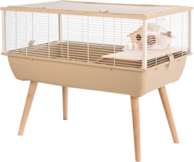 Cage pour petit rongeur - H64,5 cm - Zolux NEO Nigha beige