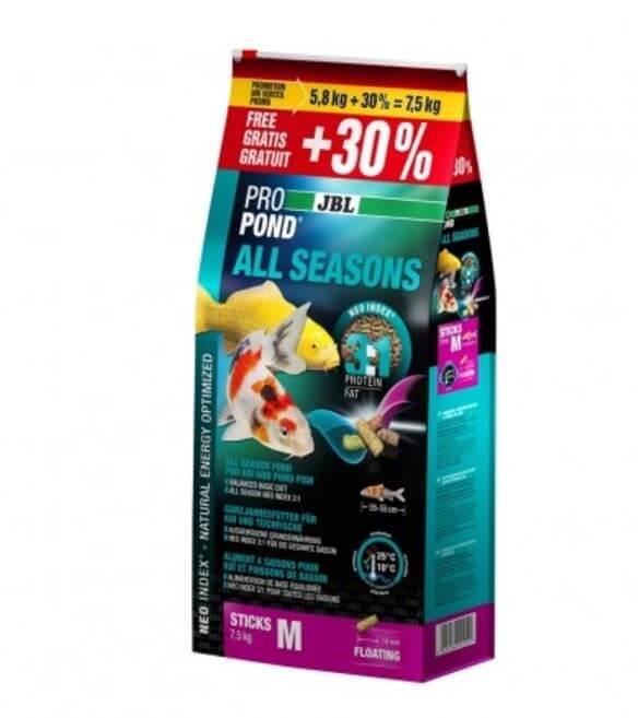 Alimento para peces de estanque jbl propond all seasons m for Alimento peces estanque