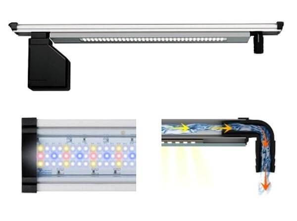 rampe clairage pour aquarium elegance led h2o eclairage led. Black Bedroom Furniture Sets. Home Design Ideas