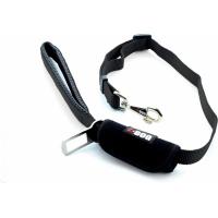IDOG schwarz / graue Komfortleine mit Sicherheitsschnalle für das Auto