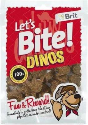 Friandises pour chien BRIT LET'S BITE Dinos