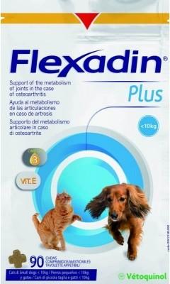 Flexadin Plus Vetoquinol chat et chien <10kg Friandises pour les articulations