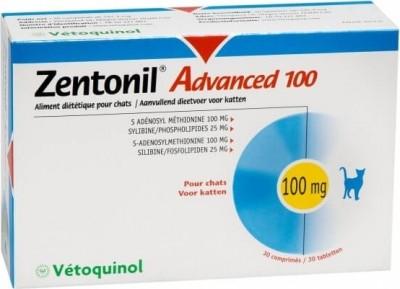 Zentonil Advanced Vetoquinol Soutien de la fonction hépatique pour chien et chat