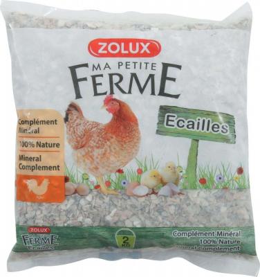 Aliment complémentaire minéral naturel Ecaille pour poules