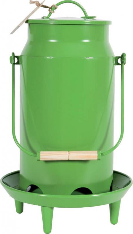 Mangeoire métal basse-cour 3.5L vert