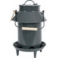 Mangeoire métal basse-cour avec toit coloris ardoise 3.5L
