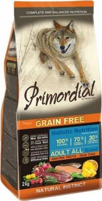 PRIMORDIAL Sans Céréales pour chien adulte à la truite et au canard