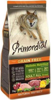 PRIMORDIAL Sans Céréales pour chien adulte au cerf et à la dinde