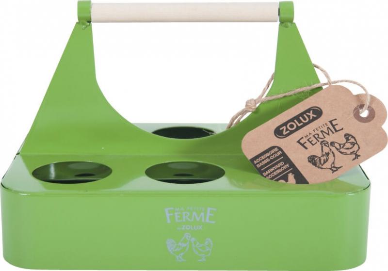 Porte-oeufs métalique coloris vert