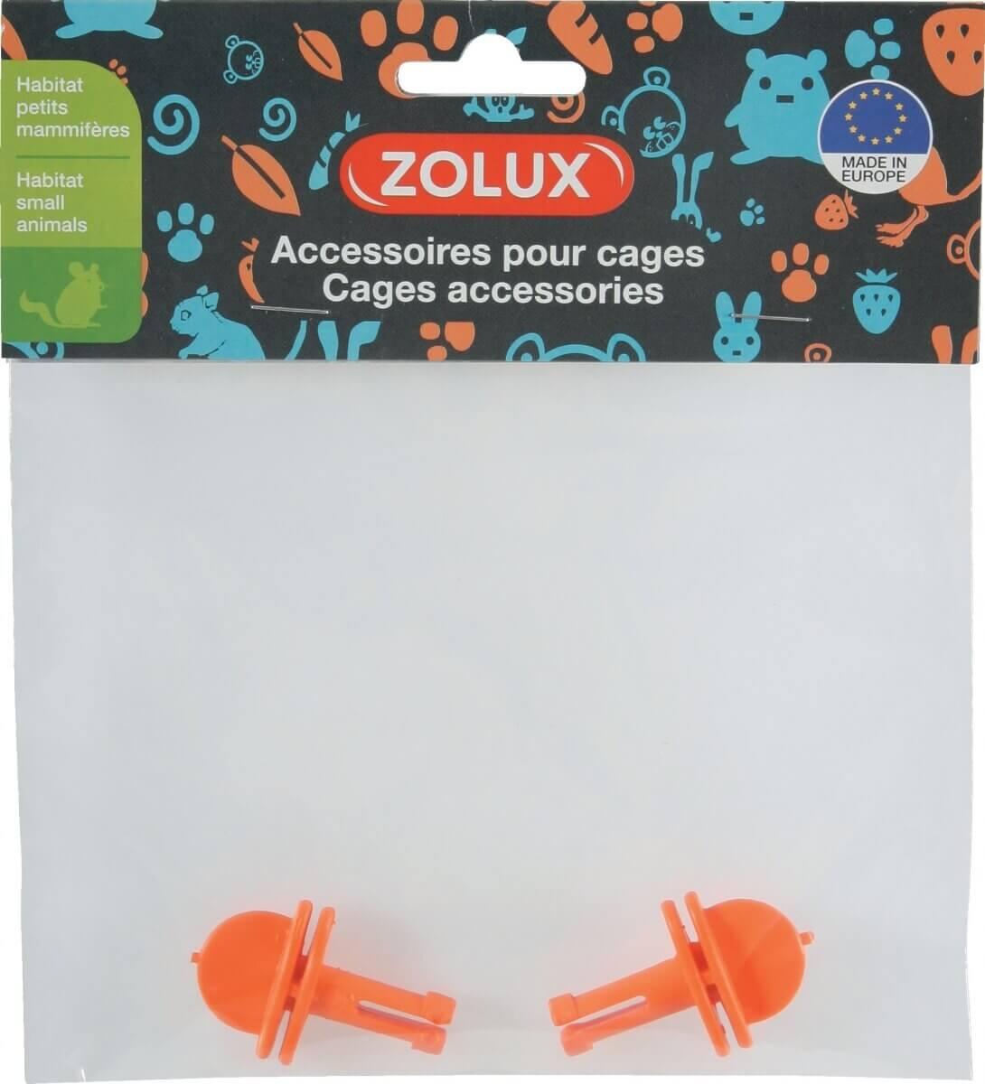 2 crochets Petits Modèles oranges pour étage cage Indoor_1