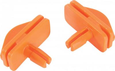 2 crochets Grands Modèles orange pour étage cage Indoor