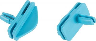 2 crochets Grands Modèles bleus pour étage cage Indoor