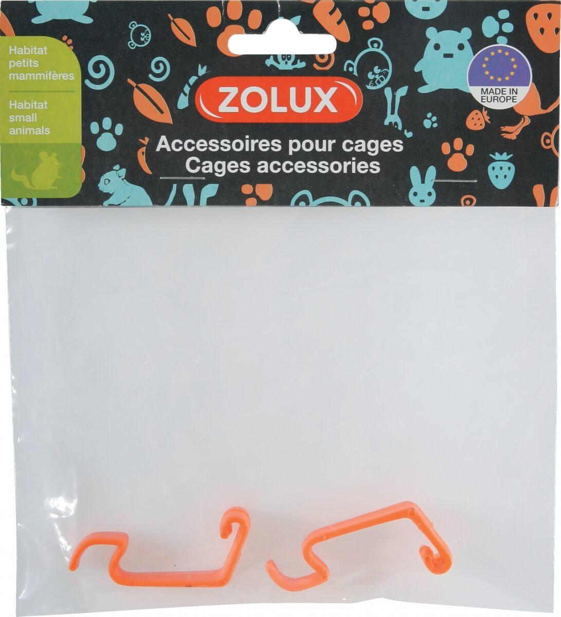 2 enganches naranjas para jaulas INDOOR ratón_1