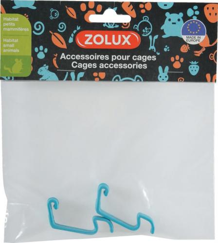 2 crochets bleu pour cage Indoor souris