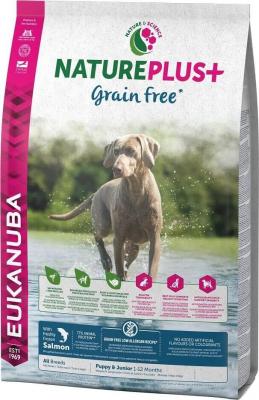 Eukanuba NaturePlus+ Grain Free Junior toutes races 1-12 mois Saumon