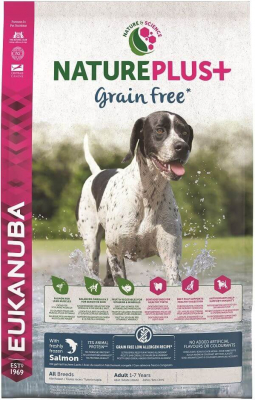 Eukanuba Nature+ Grain Free Adulte toutes races Saumon